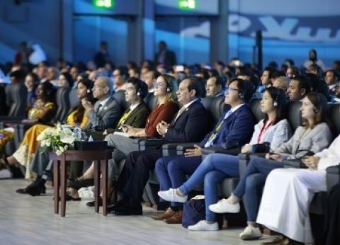"""مشارك بـ""""شباب العالم"""": أشعر بالسعادة لحضوري المنتدى.. شكرا للرئيس"""