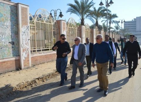 """محافظ بورسعيد يستعرض تفاصيل مشروع التطوير الشامل لحديقة """"الفرما"""""""