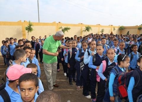 بالصور| محافظ المنوفية يفتتح مدرستين ابتدائي وإعدادي في مركز تلا