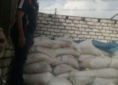 ضبط 33 شيكارة دقيق وطن ملح فاسد خلال حملة تموينية في المنيا