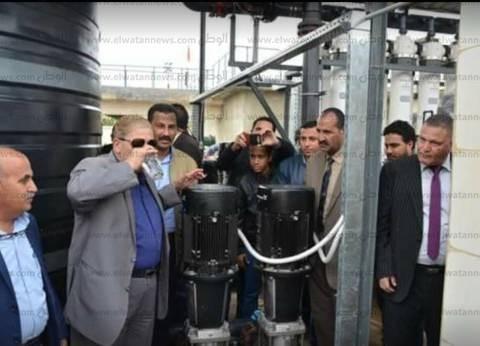 بالصور| إطلاق شارة تشغيل محطة مياه قرية أبو خليفة بـ4 ملايين جنيه
