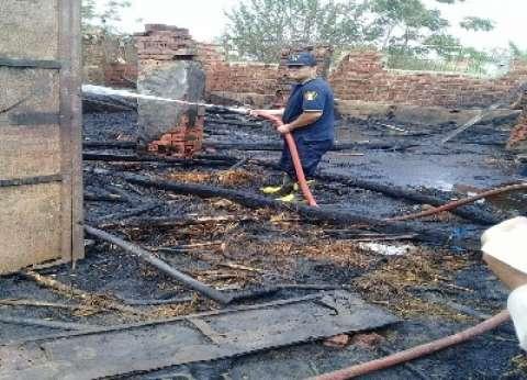 السيطرة على حريق هائل بمنزلين وحظيرة بالشهداء في المنوفية