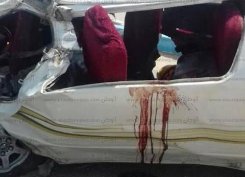 إصابة شخصين في انقلاب ميكروباص بصحراوي بني سويف