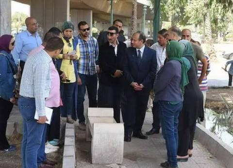 بالصور| محافظ الإسكندرية يتفقد أعمال تطوير كوبري محرم بك