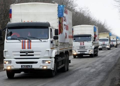 روسيا ترسل القافلة الـ75 من المساعدات الإنسانية إلى دونباس