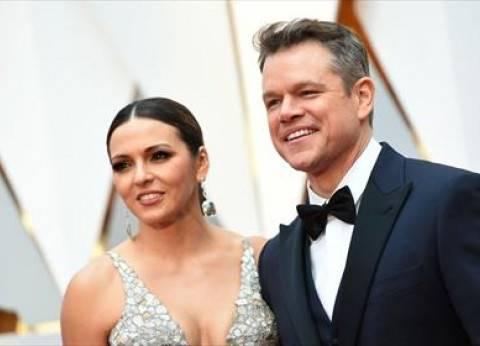 بالصور| مات ديمون وزوجته على السجادة الحمراء لحفل الأوسكار 2017