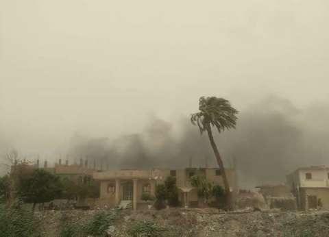 صرف إعانات عاجلة لمتضرري حريق قرية الحرجة بسوهاج