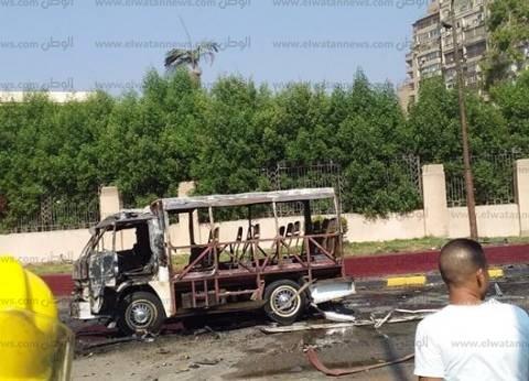 مصدر أمني: ماس كهربائي سبب احتراق سيارة ملاكي بالدقي