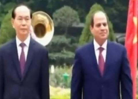 الرئيس السيسي ونظيره الفيتنامي يشهدان توقيع 8 مذكرات تفاهم بين البلدين