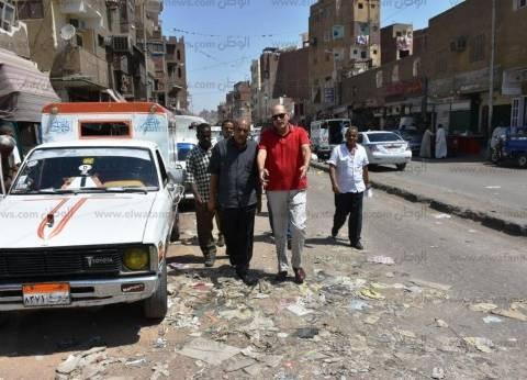 سكرتير محافظ أسوان يتفقد شوارع المدينة لرفع كفاءة أعمال النظافة