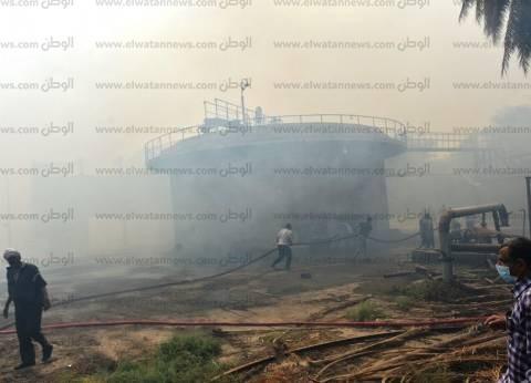 النيابة العامة تعاين موقع حريق كوم أمبو بأسوان