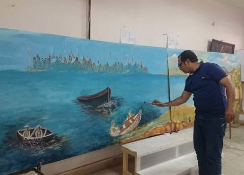 رسم لوحة بطول 5 أمتار في ختام فعاليات مهرجان الإسماعيلية