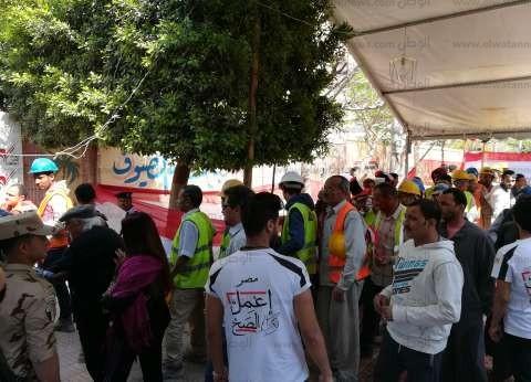 ارتفاع أعداد الناخبين بمدرسة الجبرتي في مساكن شيراتون