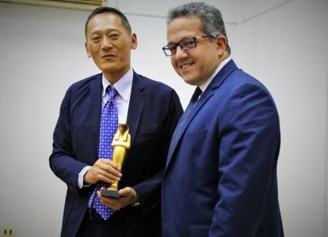 """العناني يناقش مع """"المصرية اليابانية للمتحف الكبير"""" سير العمل بالمشروع"""