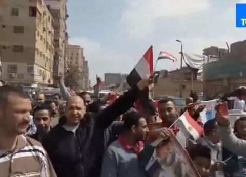 بالفيديو| مسيرة حاشدة في الزاوية الحمراء لتأييد التعديلات الدستورية