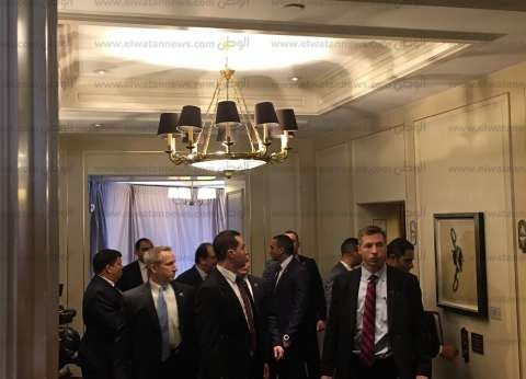 بالفيديو| لحظة وصول السيسي إلى مقر إقامته بواشنطن