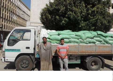 ضبط 12 طن دقيق مدعم و850 أسطوانة بوتاجاز قبل بيعها بالسوق السوداء