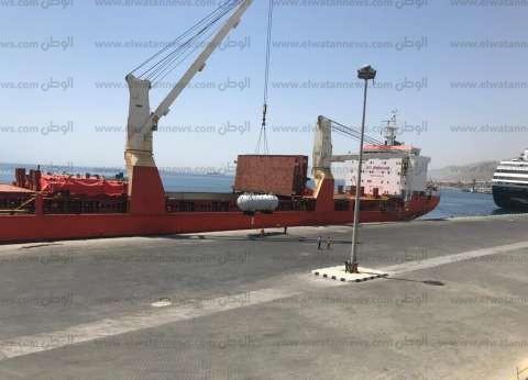 تداول 33 ألف طن بضائع و317 شاحنة بموانئ البحر الأحمر