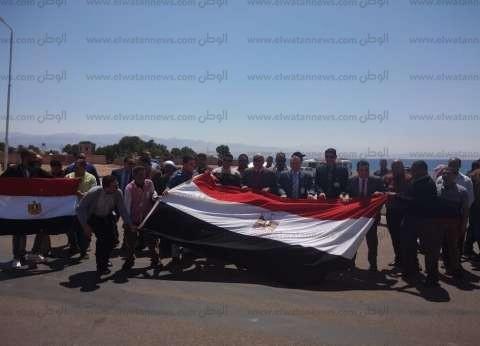 بالصور| مسيرات في الطور لتأييد التعديل الدستوري