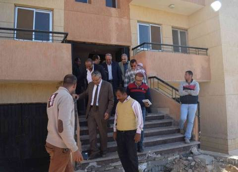 محافظ المنيا يتفقد مشروع الإسكان الاجتماعي في مطاي