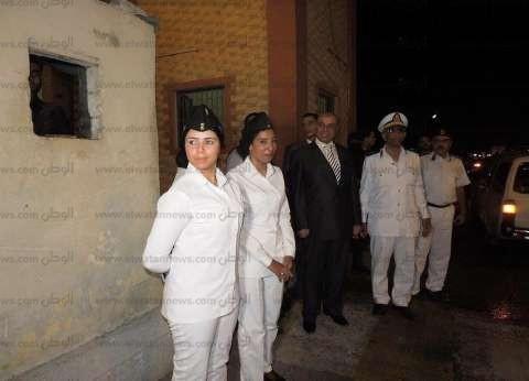 انتشار الشرطة النسائيه لتأمين بعض مناطق مطروح