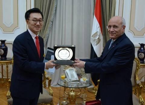 العصار يبحث مع سفير كوريا الجنوبية التعاون في مجالات التصنيع المختلفة
