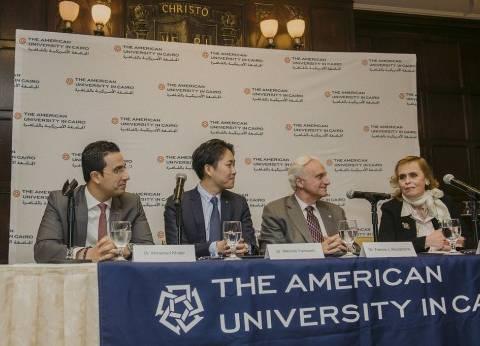 """الجامعة الأمريكية توقع مذكرة تفاهم لإطلاق منحة ماجستير """"المالية"""""""