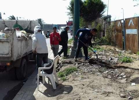 حي وسط بالإسكندرية يتابع أعمال النظافة والتجميل بنطاق الحي