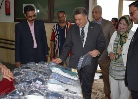 """ملابس العيد بأسعار رمزية في معرض جامعة بنها والإينرويل """"ارسم بسمة"""""""