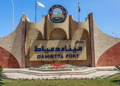 """""""ميناء دمياط"""": استقبلنا 3 سفن حاويات و5 بضائع عامة خلال 24 ساعة أمس"""