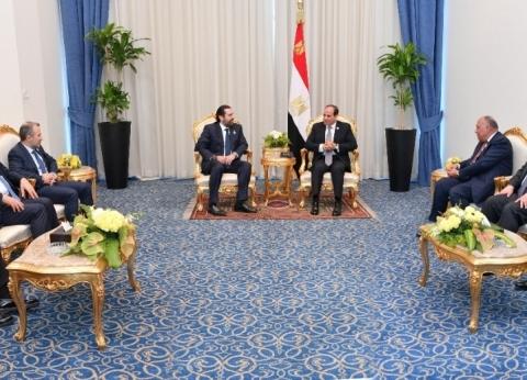 الحريري للسيسي: التجربة المصرية نموذج يحتذى به بين دول المنطقة