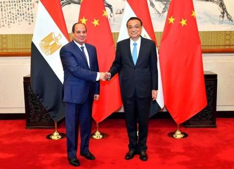السيسي يبحث مع رئيس الوزراء الصيني تطوير التعاون على مختلف الأصعدة