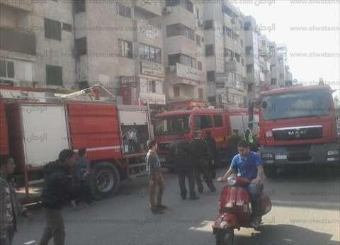 عاجل| الدفع بـ8 سيارات إطفاء للسيطرة على حريق مبنى محافظة القاهرة