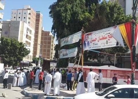 """كاميرا """"الوطن"""" ترصد: لافتات المرشحين معلقة داخل لجان مطروح"""