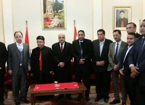 """""""المصريين الأحرار"""" يشارك في الاحتفال بعيد الميلاد المجيد بكنيسة الظاهر"""