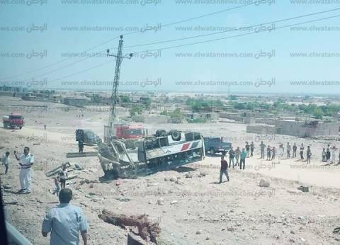 ندب لجنة من المرور لمعاينة موقع حادث أتوبيس نويبع وتحديد أسبابه