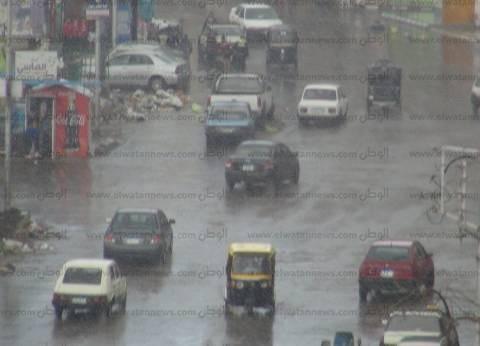 """سقوط أمطار على بعض مناطق القاهرة الكبرى.. والأرصاد: """"الطقس متقلب"""""""