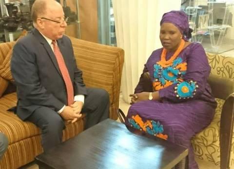 وزير الثقافة يلتقي بنظيرته من جنوب السودان لبحث التعاون بين البلدين