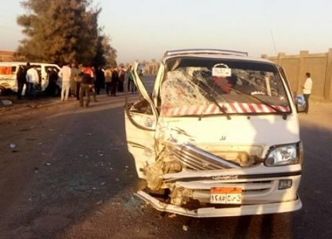 مصرع 4 عمال وإصابة 33 في حادث تصادم بطريق الفيوم الإقليمي