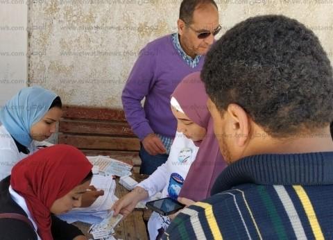 بالصور| إقبال على لجان الاستفتاء في السنانية ودمياط