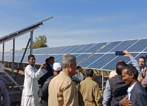 رئيس البحوث الزراعية يفتتح محطة ري بالطاقة الشمسية بقرية توماس بالأقصر