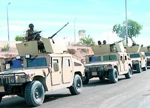 تمشيط الطريق الدائري وملاحقة العناصر المسلحة بعد استهداف كمين جنوب العريش