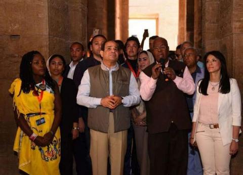 """المرشد السياحي المرافق للسيسي بـ""""فيلة"""" يكشف لـ""""الوطن"""" سر ابتسامة الرئيس"""