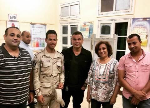 بالصور| عمرو دياب يدلي بصوته في الانتخابات الرئاسية