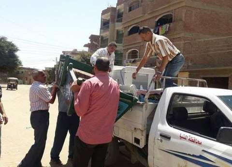 إزالة 80 حالة تعدي وتحرير 6 محاضر إشغال ببنى مزار في المنيا