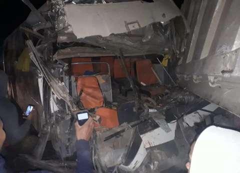 بالأسماء| 8 مصابين فيتصادم سيارتينعلى الطريق الصحراوي بالبحيرة