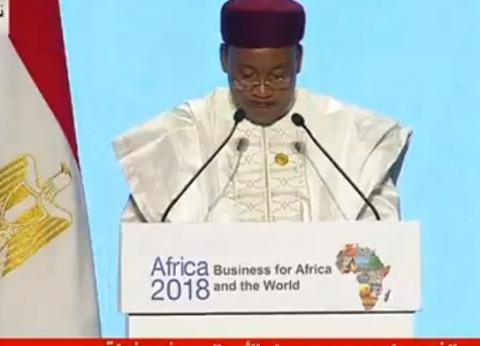 رئيس النيجر: يجب إرساء السلام والأمن في كل القارة الإفريقية