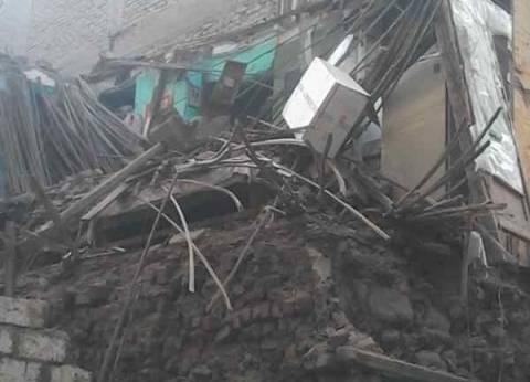 مصرع ربة منزل وإصابة زوجها إثر انهيار منزل في سوهاج