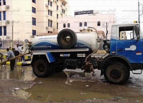 """""""صرف الإسكندرية"""": عطل في إحدى المحطات تسبب في غرق المدينة.. ودفعنا بـ14 سيارة لحل الأزمة"""