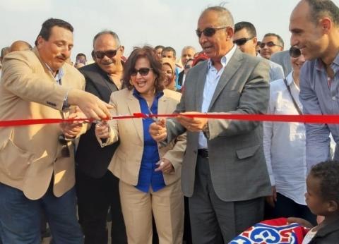 محرز ومحافظ البحر الأحمر يفتتحان مشروع وادي حوضين للتنمية بشلاتين